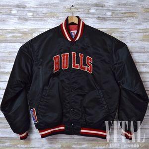Vintage Chicago Bulls Starter Jacket Mens Size XL